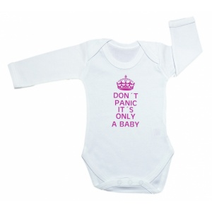 Body Don't panic it's only a baby vaaleanpunainen
