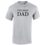 The Best Dad t-paita, harmaa